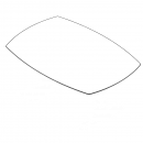 Bådformet bordplade