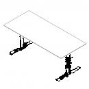 Rektangulær bordplade