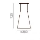 H: 725 mm - Ø: 380 mm