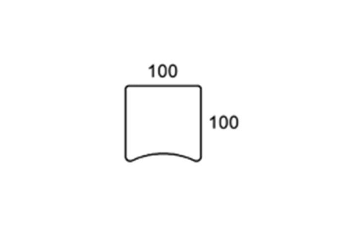 100cm centerbue bordplade