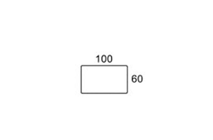 100/60 cm rektangulær bordplade