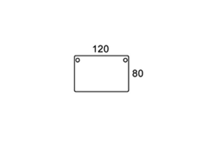 120/80cm rektangulær bordplade