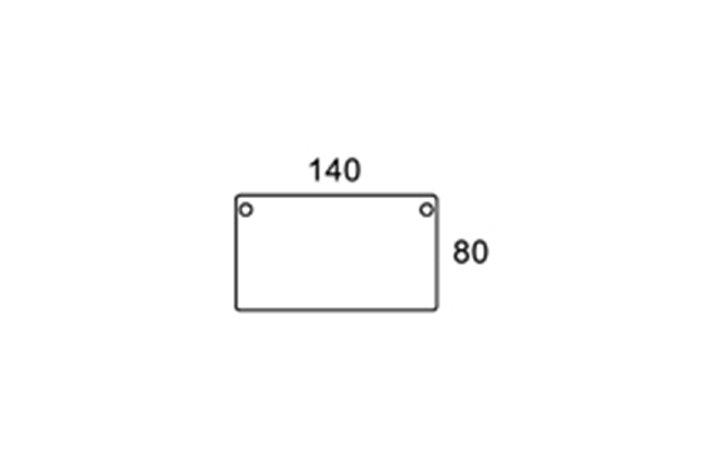 140/80cm rektangulær bordplade
