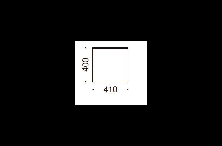 QUADRO OPBEVARING - 40x41x35/43, UDEN LÅGE