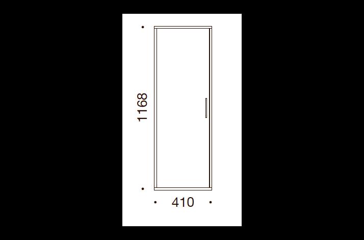 QUADRO OPBEVARING - 116,8x41x35/43