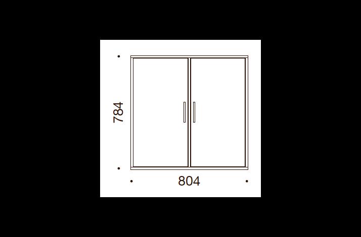 QUADRO OPBEVARING - 78,4x80,4x35/43