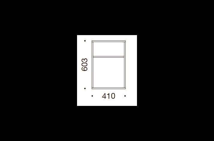 QUADRO OPBEVARING - 60,3x41x35/43, UDEN LÅGE