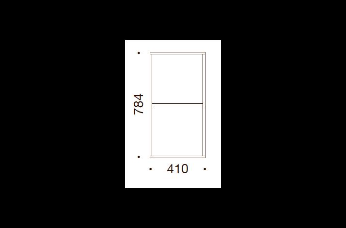 QUADRO OPBEVARING - 78,4x41x35/43, UDEN LÅGE