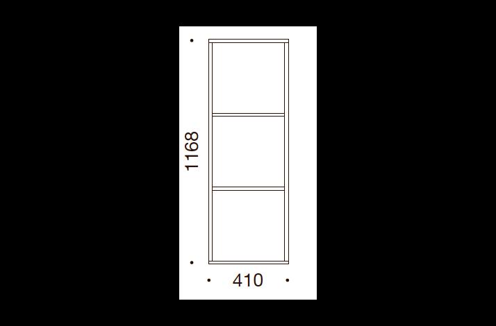 QUADRO OPBEVARING - 116,8x41x35/43, UDEN LÅGE