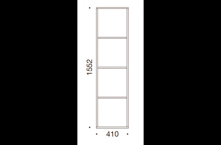 QUADRO OPBEVARING - 155,2x41x35/43, UDEN LÅGE