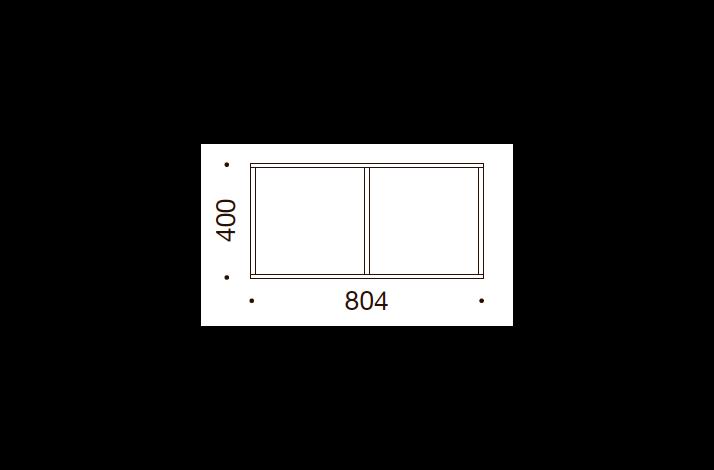 QUADRO OPBEVARING - 40x80,4x35/43, UDEN LÅGE