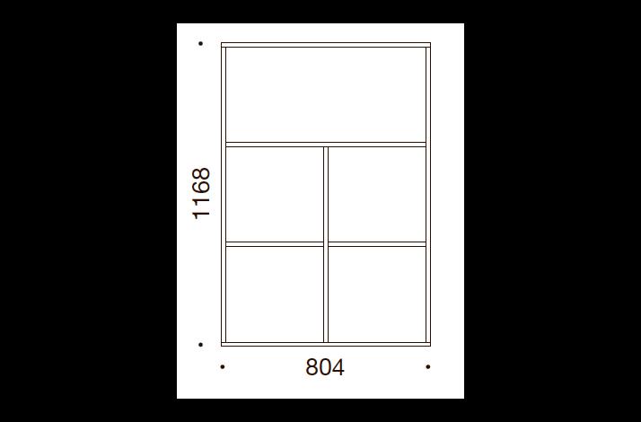 QUADRO OPBEVARING - 116,8x80,4x35/43, UDEN LÅGE