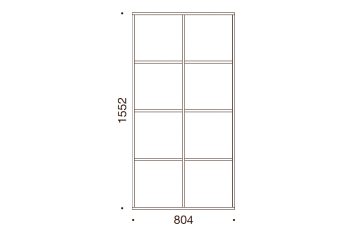 QUADRO OPBEVARING - 155,2x80,4x35/43, UDEN LÅGE