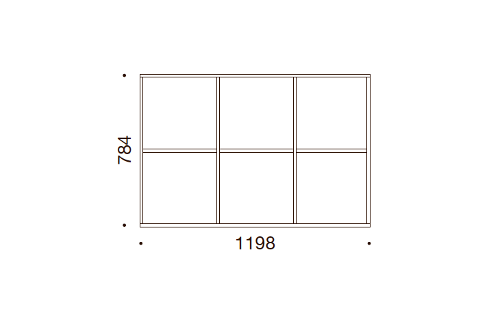 QUADRO OPBEVARING - 78,4x119,8x35/43, UDEN LÅGE
