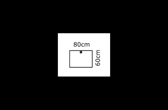 80/60 Rektangulær bordplade - Melamin