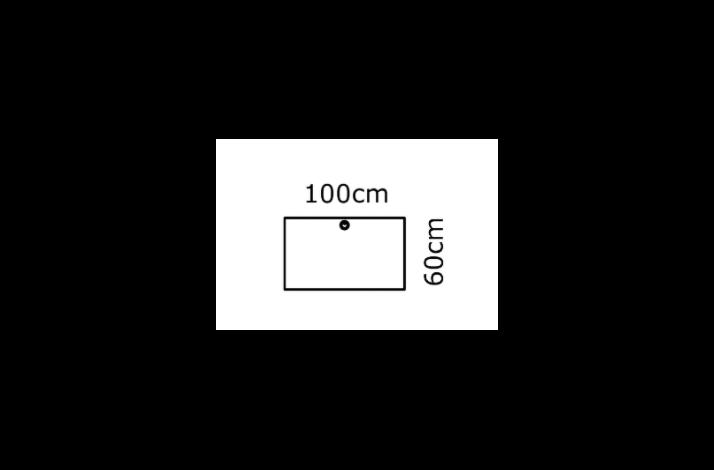 100/60 Rektangulær bordplade - Melamin