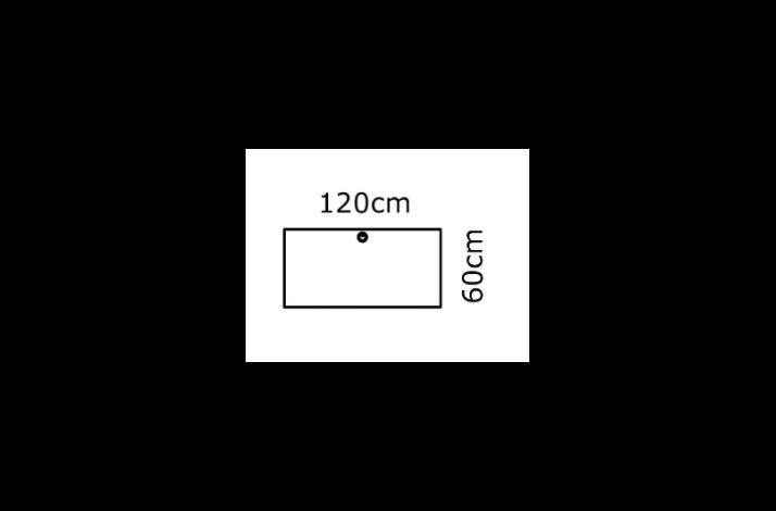 120/60 Rektangulær bordplade - Melamin