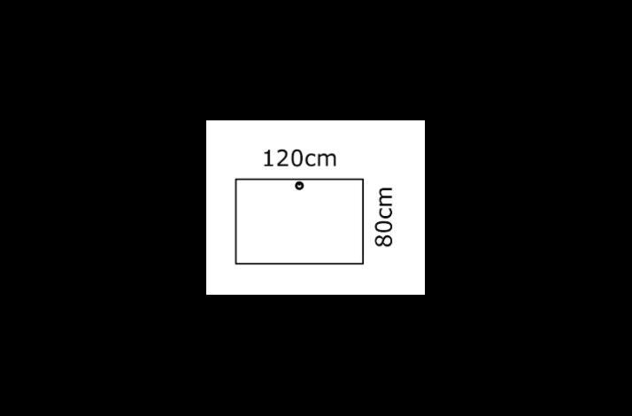 120/80 Rektangulær bordplade - Melamin