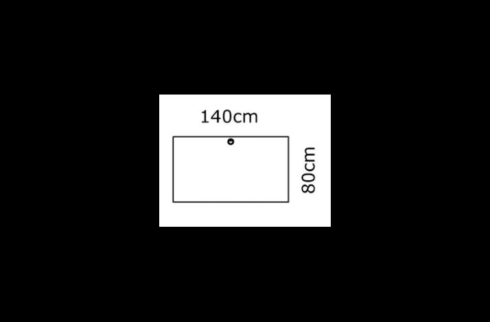 140/80 Rektangulær bordplade - Melamin