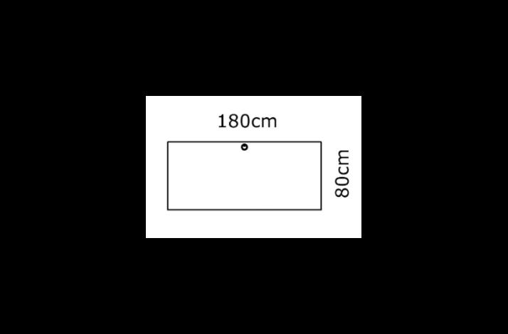 180/80 Rektangulær bordplade - Melamin