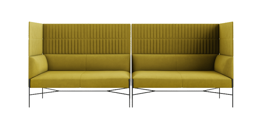 Chill out lounge sofa h j sofa med lydisolerende afsk rmning - Chill out sofas ...