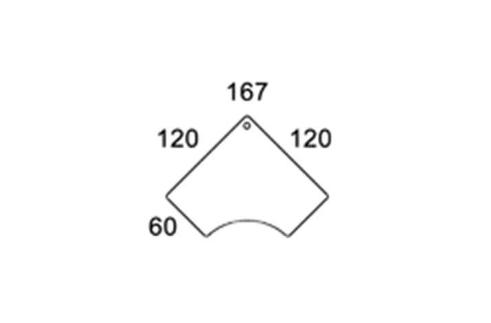 120x120 Hjørne bordplade